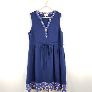 ModCloth V-neck Drawstring Midi Dress